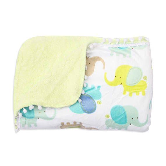 Fleece blanket Baby soft fleece fabric blanket luxury throw blanket Elephant nursery blanket newborn fleece blanket Baby warm handmade quilt