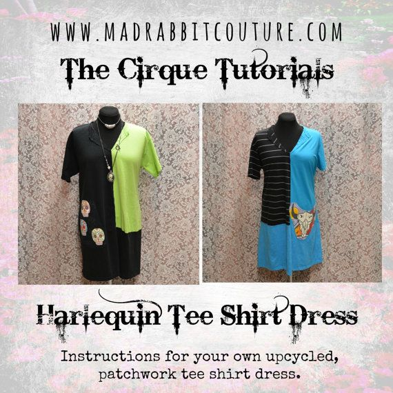 Digital Tutorial The Harlequin Dress Womens by madrabbitcouture