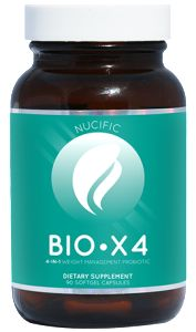 What Is BIO X4? BIO X4 is a unique and groundbreaking new supplement that combines 4 proven nutrients to support digestive health and weight loss management. The probiotics in BIO X4 help restore the ideal balance in your gut, supporting immune health and promoting regular bowel movements, while the Griffonia Seed Extract (5-HTP) is included in the formula for its appetite suppressing properties.  This weight management probiotic contains a proprietary Digestive Enzyme blend that eases…