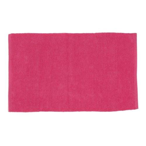 Tapis chenille en coton rose - Prem's