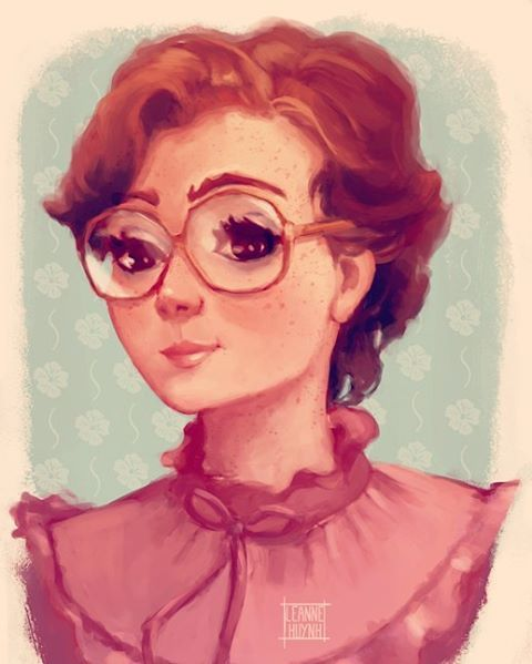 Painting of Barb from Stranger Things - Prints available on my website!   http://www.leannehuynh.com/product/barb/