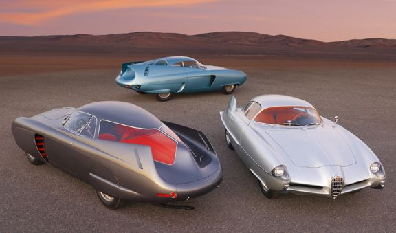 The B.A.T cars were concept cars produced by Bertone for Alfa between 1953 and 1955. The purpose of the cars was to explore how low the aerodynamic drag on an automobile could go.