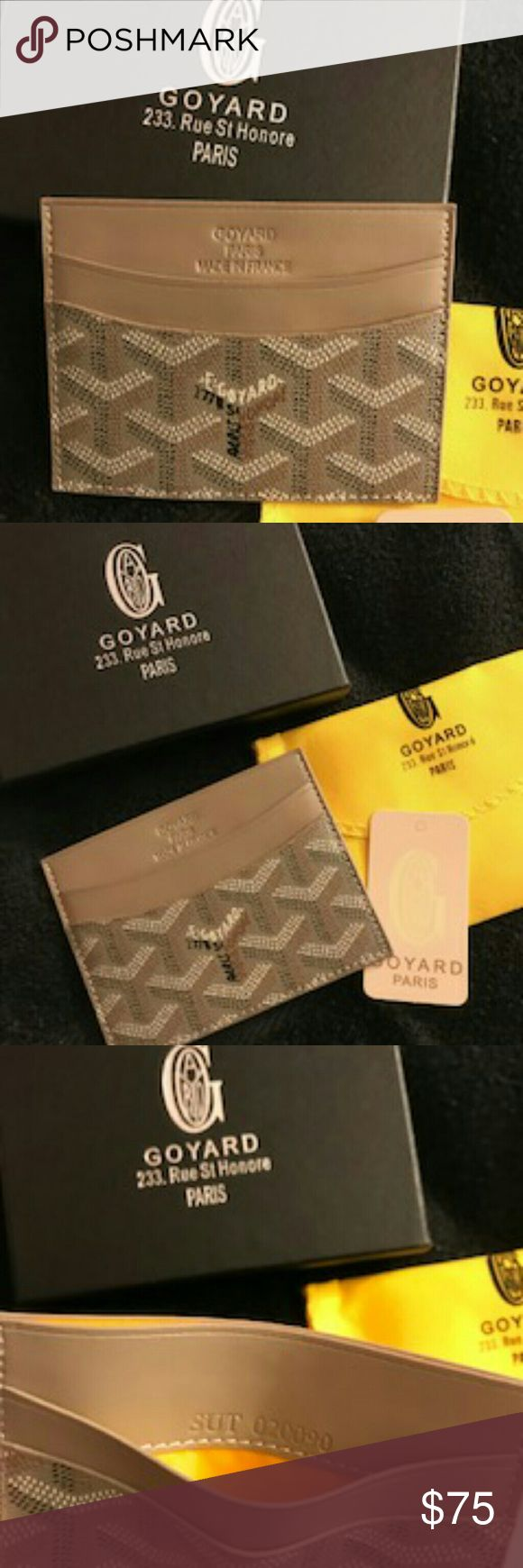 Goyard card holder khaki New never used the box is included as well as dust bag like the original Accessories Key & Card Holders
