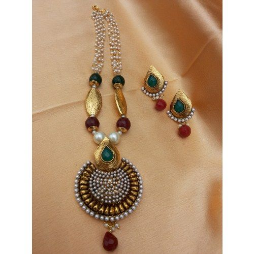 Online Shopping for lovely antique pendant set | Necklaces | Unique Indian Products by urshi collections - MURSH92271884150