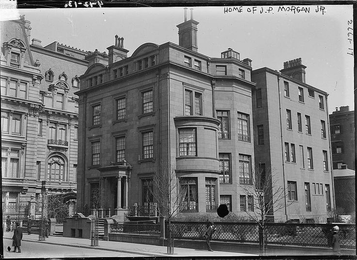 "Home of financier John Pierpont ""Jack"" (JP) Morgan, Jr. (1867-1943) at 228-231 Madison Ave. (southeast corner of 37th Street), New York City in 1913"