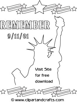 911 remember coloring page poster september
