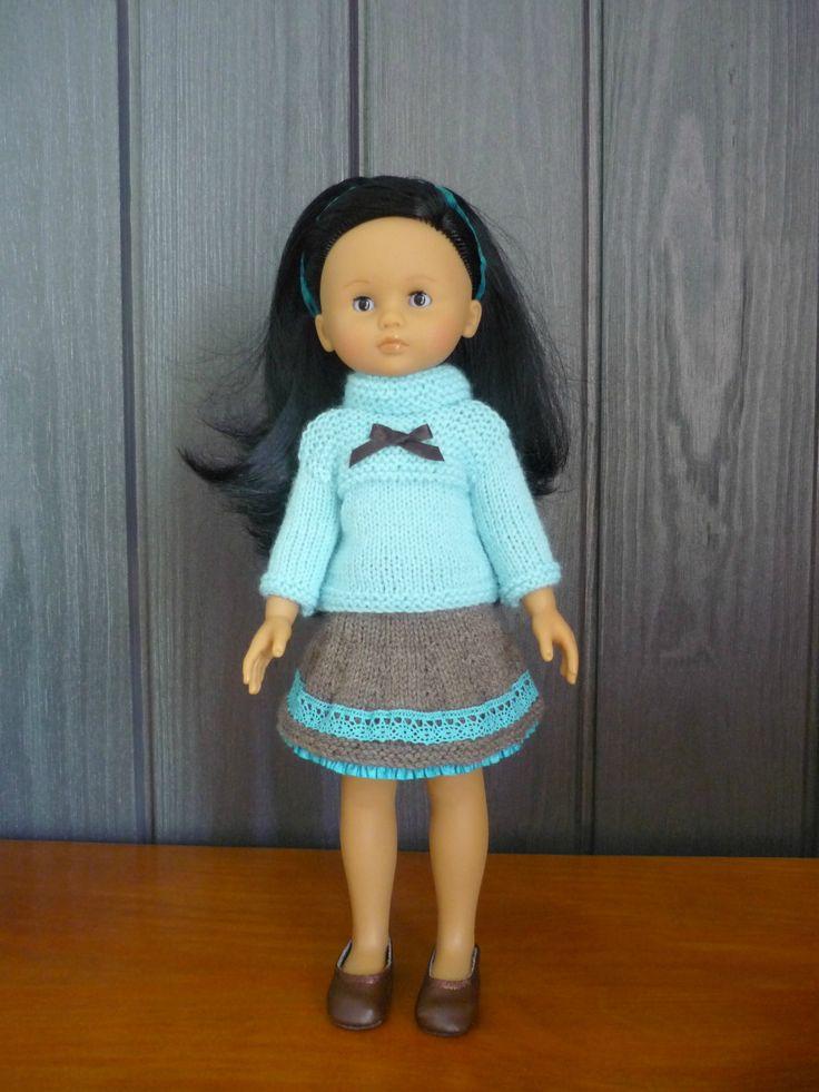 Tuto jupe et pull poupée Les Chéries H4H