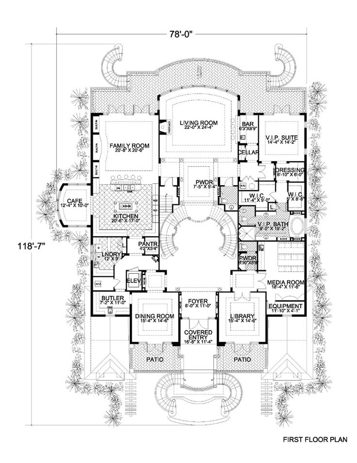 floor plans for large families | Click thumbnail image for larger version.