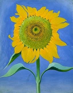 GEORGIA O'KEEFFE  Sunflower for Maggie (Sunflower, New Mexico I, 1935)
