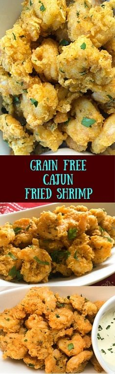 These Paleo and gluten free Cajun fried shrimp from A Sprinkling of Cayenne are light, crispy, and full of authentic south Louisiana flavor.  http://asprinklingofcayenne.com