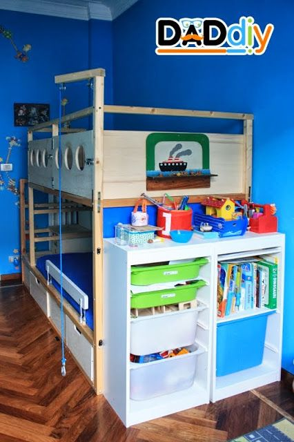 ikea kura hack add a crank to bring things up to top floor - Ikea Childrens Bedroom Ideas