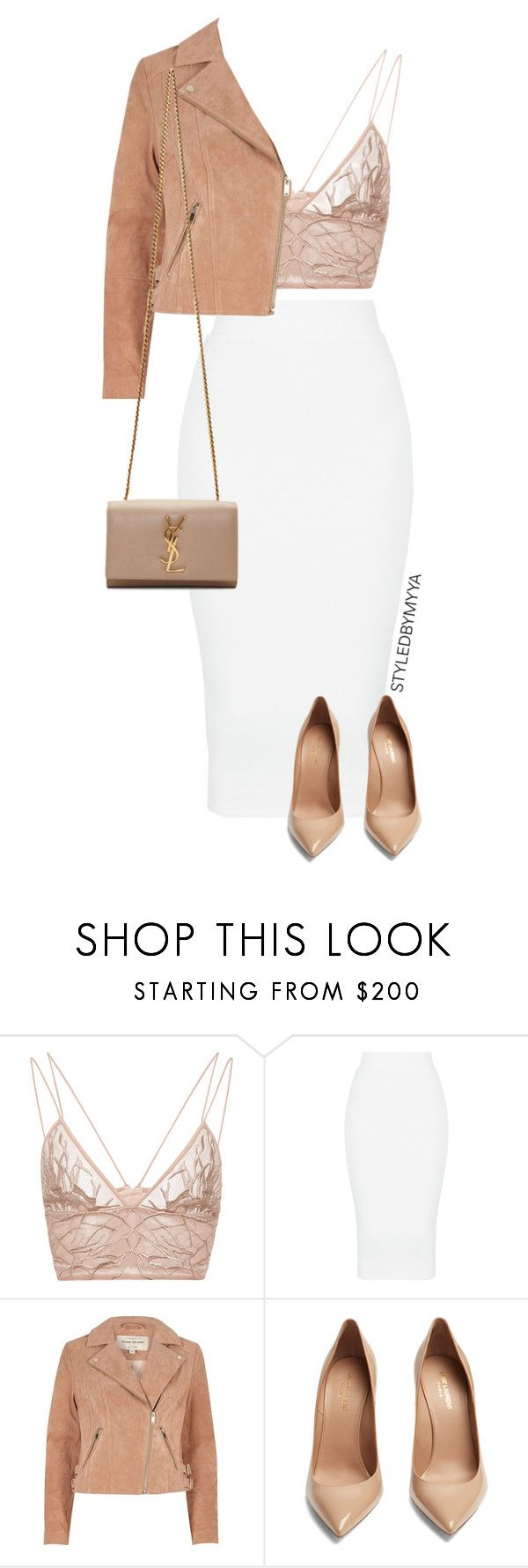 """""""BOUT' MY BUSINESS"""" by my-ya ❤ liked on Polyvore featuring Jonathan Simkhai, River Island and Yves Saint Laurent"""