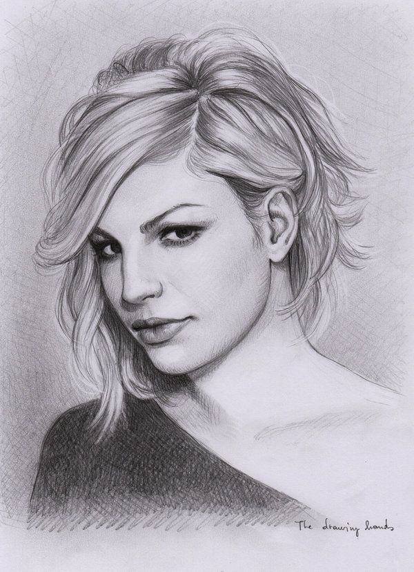 An amazing drawing of Emma Marrone!