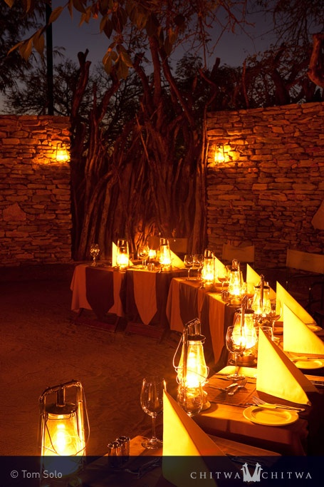 Dinner in the Boma   Chitwa Chitwa Private Game Reserve in the Sabi Sands, South Africa