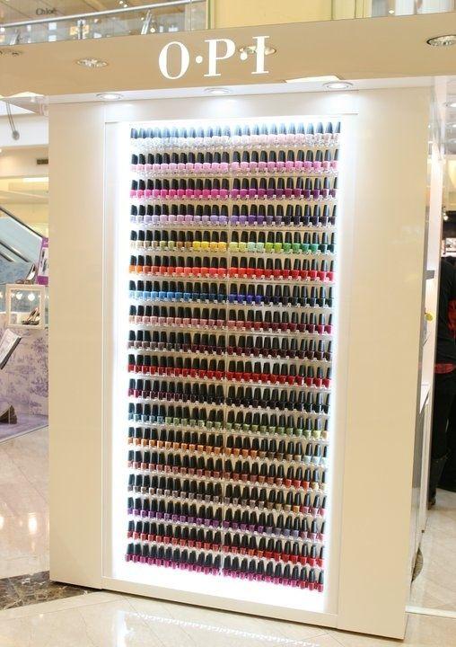 OPI nail polish is my absolute favorite! Whole closet full of nail polish...please!!