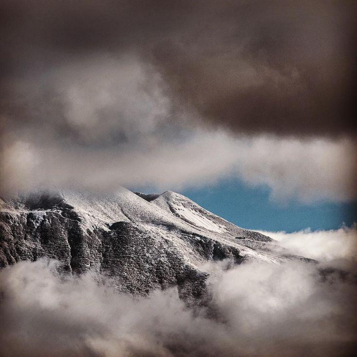 MOUNT YOTEI, HOKKAIDO  @zaborin.ryokan #mtyotei peeking from behind #stormyclouds #winteriscoming #hokkaido #niseko #zaborin #ryokan  | zaborin.com