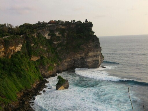 One legendary tample with great ocean view
