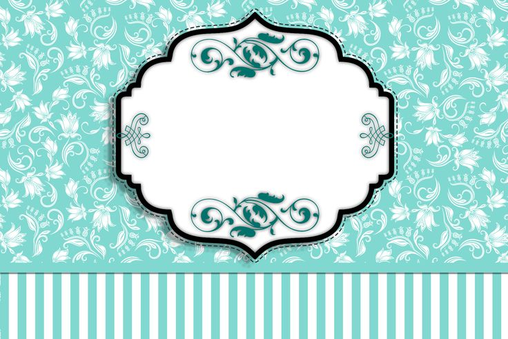 Tiffany Blue and Floral and Stripes: