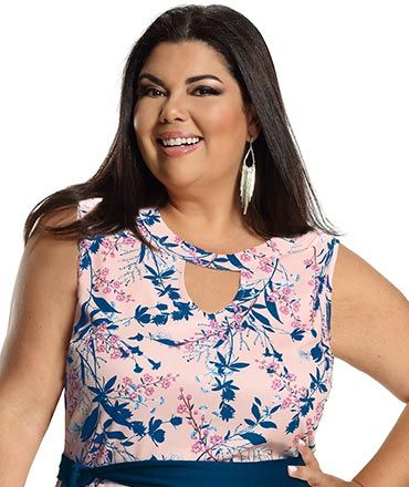 a30142a23 Fabiana Karla by Hiroshima - Conjunto 2 peças (Blusa em malha devorê e  vestido em malha piquet com elastano)