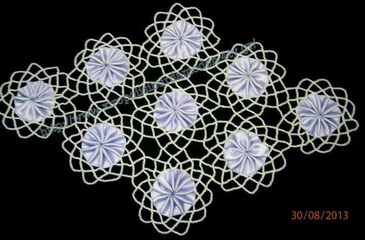 Δαντελα που δημιουργηθηκε με χαντρες,λευκές της Τσεχίας απο 49.80 το κιλό.Χρησιμοποιήστε την καλύτερη ποιότητα,για να έχετε για πάντα εργόχειρα αξίας.Διότι οι φτηνές χάντρες,μαυρίζουν εσωτερικά ή ξεβάφουν.Γιούλη Μαραβελη,τηλ 2221074152