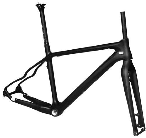 "Full Carbon 3K Matt Matte 26er Mountain Bike MTB 26"" Wheel BSA Frame 17"" by x-goods"