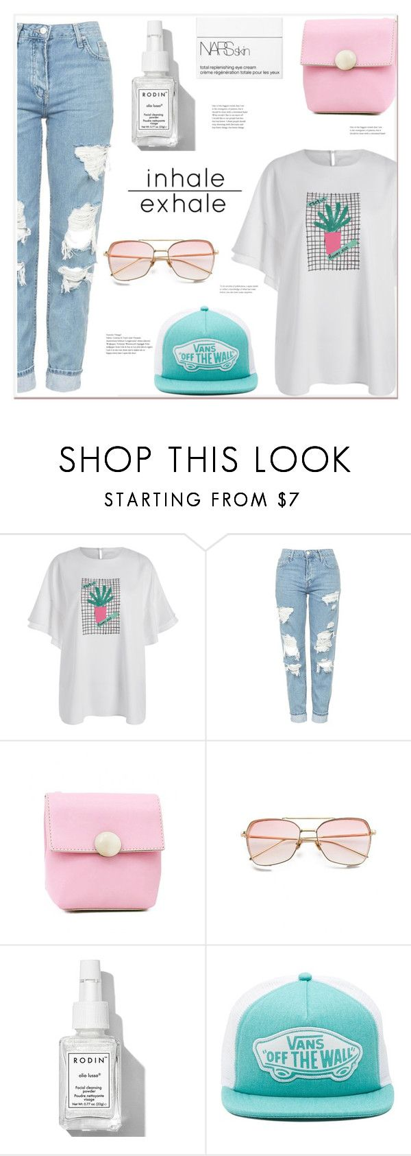 """""""inhale exhale"""" by mycherryblossom ❤ liked on Polyvore featuring Topshop, Rodin, Vans and NARS Cosmetics"""