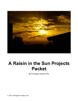 Looking for creative projects to use while reading Lorraine Hansberry's classic play? Included in this 13 page document are projects for A Raisin in the Sun. Useful for discussion or for assessment, these projects assist students in comprehension of character, define setting and creatively draw upon the play for