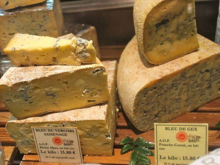 An endangered blue cheese at the Les Halles de Lyon, France