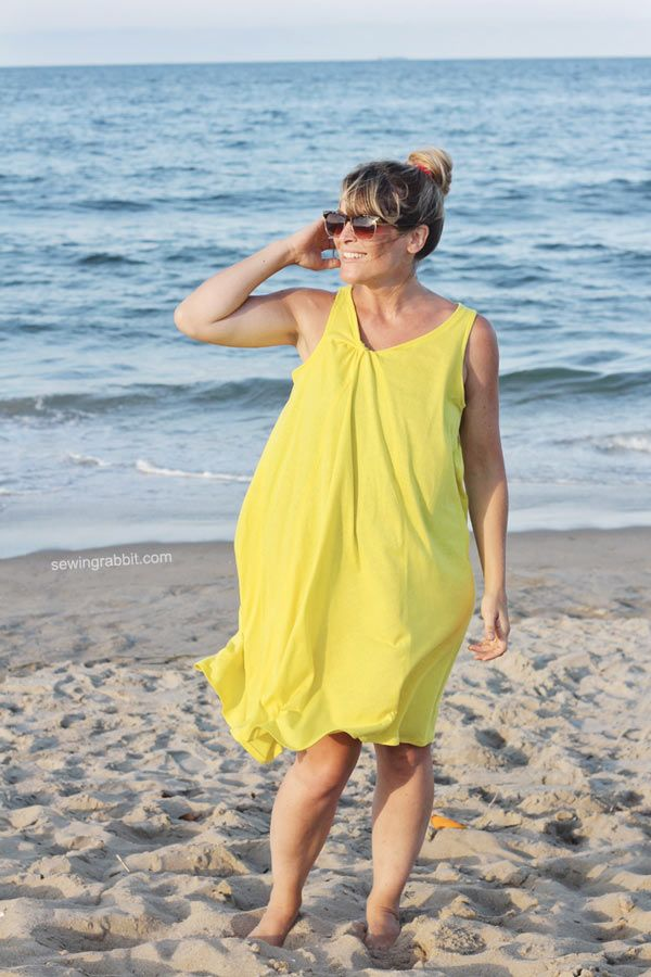 Patron gratuit : la robe trapèze                                                                                                                                                                                 Plus