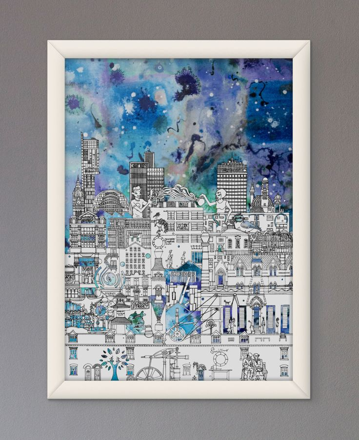 MehaArt: Industrial Manchester Print - Ancoats & Northern Quarter in Colour https://www.etsy.com/uk/listing/255039302/industrial-manchester-print-ancoats