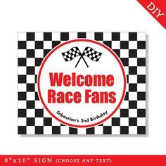 free birthday car racing template - Google Search