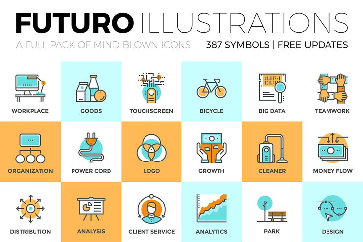 Futuro Icons Collection on Behance
