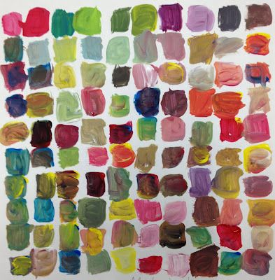 challenge to mix 100 colors for 100th day. they would love this!: 100 Colour, 100Th Day, Colors Mixed, Mixed 100, Kids Art, Schools Projects, Art Activities, Art Projects, 100 Colors