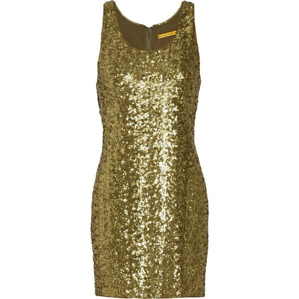 Alice + Olivia Sequined silk tank dress (700 BRL) ❤ liked on Polyvore featuring dresses, women, sequin cocktail dresses, brown silk dress, silk cocktail dress, brown cocktail dress and brown tank dress