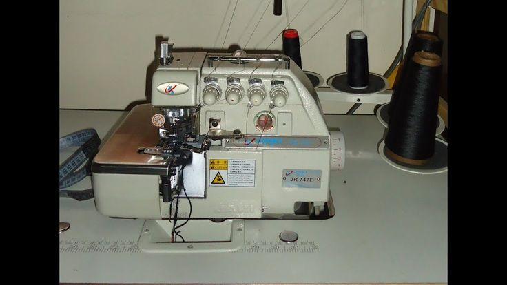 مختلف استعمالات مكنة الأوفر لوك أو السرفلة أو السورجي 4 خيوط