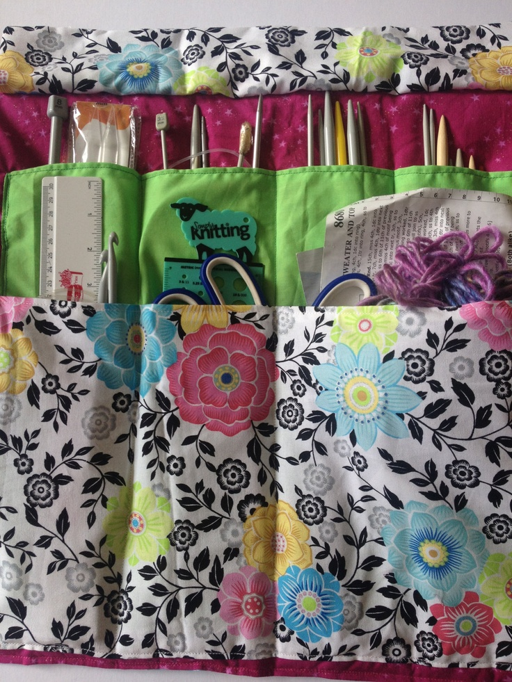 Quilted Knitting Needle Case Pattern : Best images about roll up cases on pinterest pencil