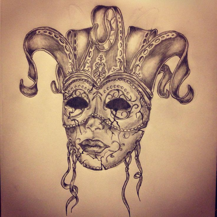 Carnival mask tattoo sketch by - Ranz | Pinterest