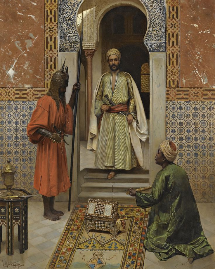 The Arms Merchant Presenting His Wares, 1886, Rudolf Weisse