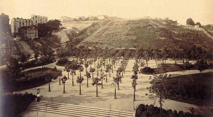 La butte Montmartre en 1877, au début de la construction du Sacré-cœur. Photo Louis-Emile Durandelle