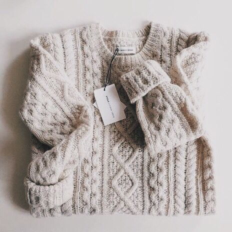 what a super cute off-white knit sweater! #cable #knit #pullover