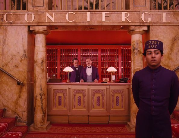 10 Striking Images From Wes Anderson's 'The Grand Budapest Hotel' | Tribeca Lobby of The Grand Budapest Hotel
