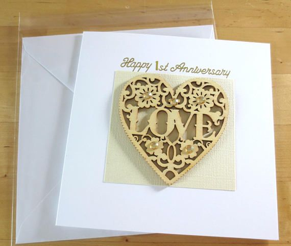 Personalised Anniversary card 1st 2nd 3rd 4th 5th 6th 7th 8th