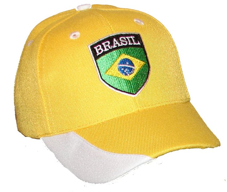 PAM GM Little Boys Brazil Soccer Caps For Toddlers Yellow 2 - 7 Years. Brasil soccer cap. children's sizes. fits from 2 to 7 years. Embroidered Crest. Velcro closure for easy fit.