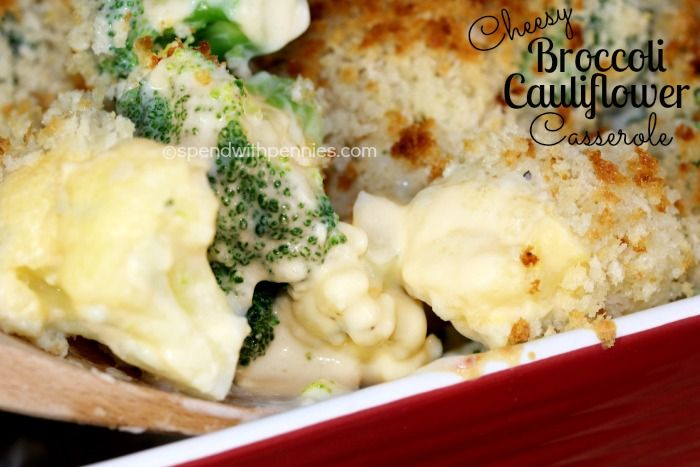 Cheesy Broccoli Cauliflower Bake (No condensed soup required)