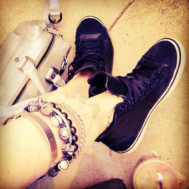 Crocs hover mid level leather black sneakers found on @lovemaegan via her awesome blog: http://www.lovemaegan.com/