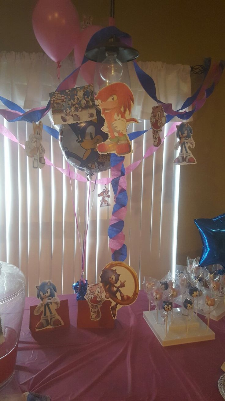 Sonic the hedgehog  and  Amy Rose birthday party!!