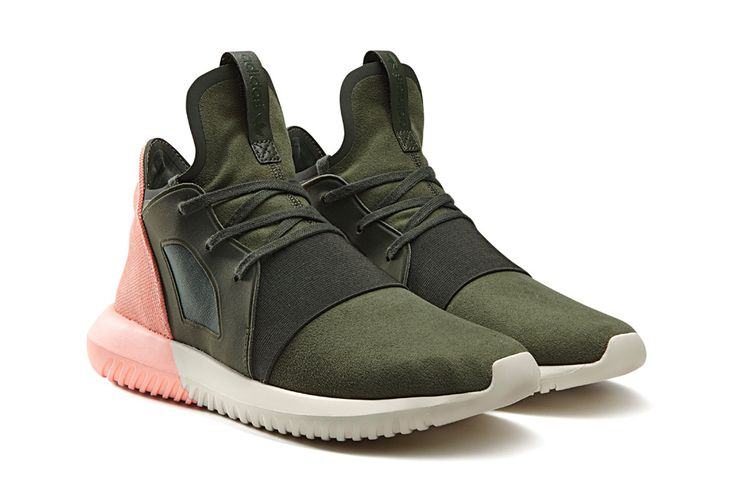 Adidas Tubular Green And Pink