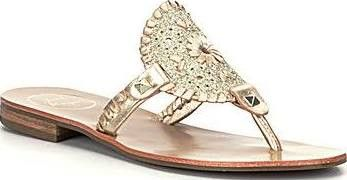 Jack Rogers Georgica Sparkle Sandal- Platinum from Shop Southern Roots TX