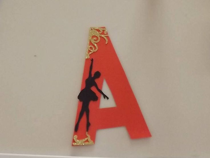 Letter A / Card stock  Letter A /  Craft Supply / Nursery Decor / Home Decor / Scrapbook Supplies / Ballerina silhouette / Scrapbook Supply by PaperFabricRock on Etsy