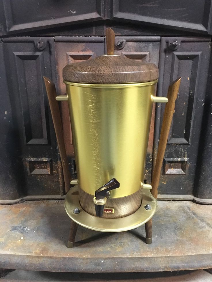 Vintage Percolator, Mid Century Modern Coffee Tricolator, 1960s Danish teak coffee maker, Mid Century Modern Atomic Percolator by Tricolator by RusticBuckets on Etsy https://www.etsy.com/listing/265292305/vintage-percolator-mid-century-modern